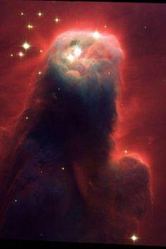 Seen in space - formation of Jesus praying