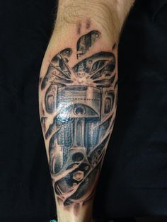 Piston tattoo by spirits in the flesh tattoo studio San Francisco  www.spiritsintheflesgtattoo.com