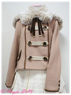 Angelic Pretty Napoleon Short Coat in beige