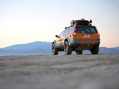 XC70 IPD project vehicle having a mountain top experience.