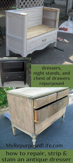 My Repurposed Life-Take 2 Tuesday {dressers, chests, and nightstands}