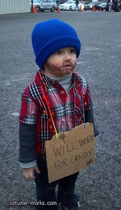 Little Hobo - cute and easy Halloween costume