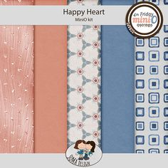 Oscraps.com :: Shop by Category :: All New :: SoMa Design: Happy Heart - MiniO - Kit Happy Heart, Kit, Shopping, Design