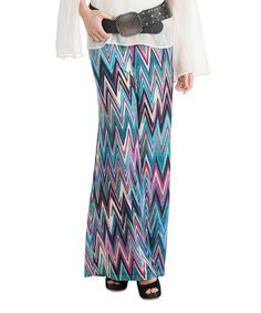 Look what I found on #zulily! Aqua Zigzag Iced Palazzo Pants #zulilyfinds