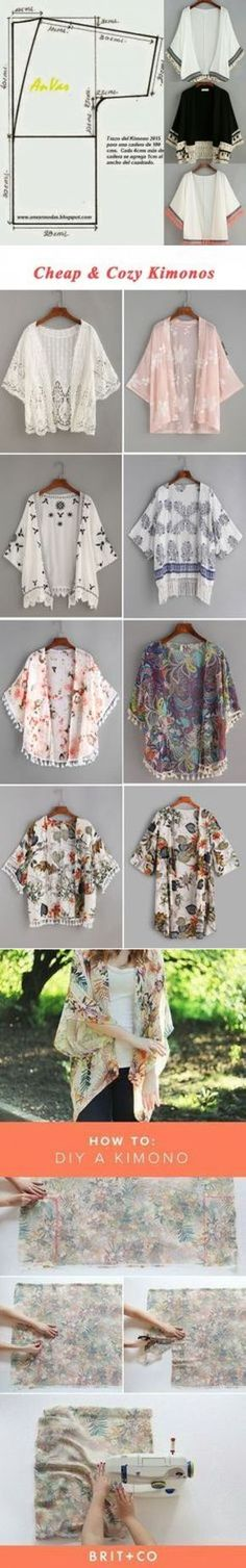 Muster nähen Muster einfach Muster nähen Muster einfach Pattern to make this cardigan Fabric Crafts, Sewing Crafts, Sewing Projects, Sewing Diy, Diy Clothing, Sewing Clothes, Dress Sewing, Fashion Sewing, Diy Fashion