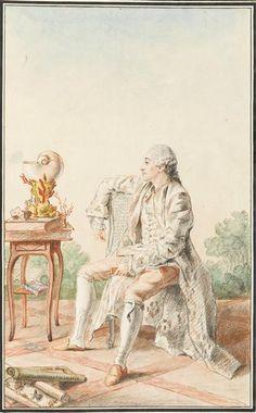 Monsieur de Buchelay, fermier general, 1758 by Louis Carrogis Carmontelle (1717-1806) (Chantilly)