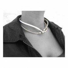 Collar, Chokers, Silver, Jewelry, Fashion, Leather Bracelets, Bracelet, Steel, Moda