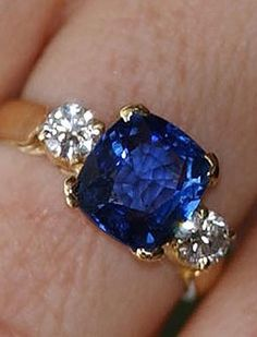Heather Mills received this sapphire and diamond ring from Sir Paul McCartney. He purchased the ring in India. They were married on June 11, 2002, but divorced on March 17, 2008.