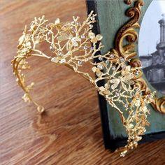 $5.85 AUD - Vintage Baroque Wedding Bridal Hair Accessories Dragonfly Women Gold Crown L1E7 #ebay #Fashion