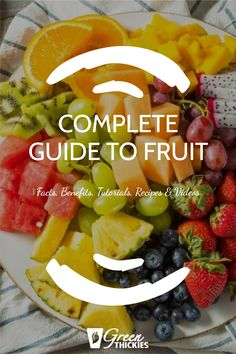 This incredible guide to fruit will blow your mind with fascinating fruit facts, fruit benefits, fruit tutorials, 200+ fruit recipes and videos. Protein Fruit Smoothie, Fruit Smoothie Recipes, Smoothie Diet, Fruit Recipes, Healthy Smoothies, Raw Vegan Recipes, Vegan Food, Fruit Facts, Fruit List