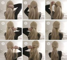 Hair tutorial: Two simple knot half up-dos Tutorial, Two simple knot half up hair dos, perfect for the holidays Ponytail Hairstyles Tutorial, Wedding Hairstyles Tutorial, Bun Hairstyles, Trendy Hairstyles, Christmas Hairstyles, Wedding Hair Tutorials, Date Night Hairstyles, Waitress Hairstyles, Interview Hairstyles