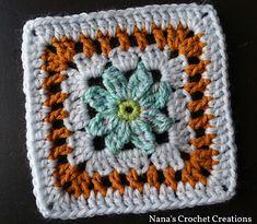 """Ravelry: Nana's """"Sana Flower"""" Square pattern by D Maunz"""