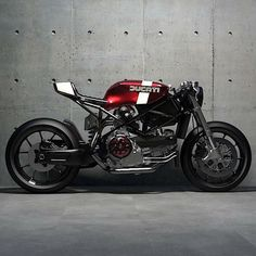 Ways to Utilize Best Idea Modification Motorcycles Custom Candy apple and Cream Ducati render from Looks so good you could eat it. Ducati Cafe Racer, Cafe Bike, Cafe Racer Motorcycle, Motorcycle Design, Ducati 749, Moto Scrambler, Moto Bike, Custom Cafe Racer, Cafe Racer Build
