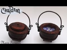 Easy Miniature Polymer Clay Witch's Cauldron Tutorial | Maive Ferrando - YouTube