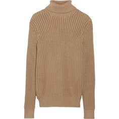 Michael Kors Chunky-knit turtleneck sweater (€1.050) ❤ liked on Polyvore featuring tops, sweaters, brown, turtle neck sweater, brown turtleneck sweater, michael kors, michael kors sweaters und chunky turtleneck sweater