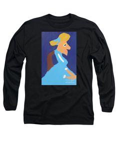 Patrick Francis Designer Black Long Sleeve T-Shirt featuring the painting Portrait Of Adeline Ravoux - After Vincent Van Gogh by Patrick Francis
