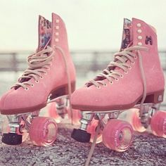 Moxi Shoes - Sold on eBay! Pink Leather Roller Skates