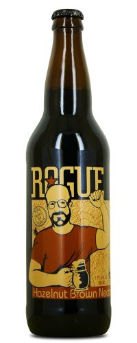 Rogue Hazelnut Brown Nectar Don t let the goofball on the label throw you  off. This is maybe my favorite brown ale. You will not regret trying this. 06af95583