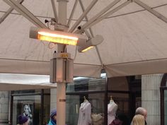 Good shot of two HWP2 BN Thermic Patio heaters in action!