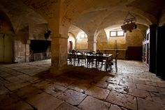 Château de la Ferté Saint Aubin - servants dining room by Saskya, via Flickr