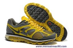 487982-009 Varsity Maize Grey Mens Nike Air Max 2012 Sale