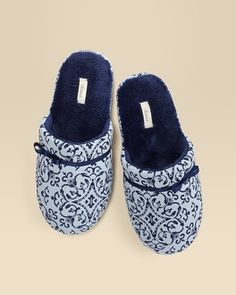 Soma Intimates Scuff Slipper Paisley Tile Light Blue #somaintimates My Soma Wish List Sweeps