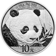 2018 China Chinese Silver 10 Yuan Panda 30 g .999 Silver Coin