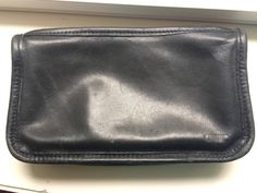 Vintage Black Coach Small Leather Cosmetic Bag/Clutch by ItsallforHim on Etsy