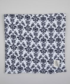 Denim Brocade Muslin Receiving Blanket