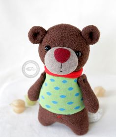 sock BEAR 8.5 inches by WhoIsPisces on Etsy