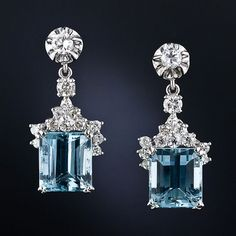 What a find! Cool blue emerald-cut aquamarines. #tonerjewelers