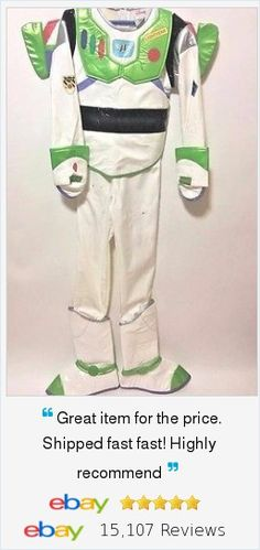 To Infinity and Beyond in this Halloween Disney Buzz Lightyear Costume! Deluxe Jet Wings, over the shoe Boots bring thisToy Story character to life. Sz Med