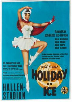 Original vintage poster HOLIDAY ON ICE AMERICAN REVUE