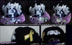 CUSTOM MADE FOR CYN SANTANA FROM LOVE & HIP HOP, IN MEMORY OF HER BROTHER.