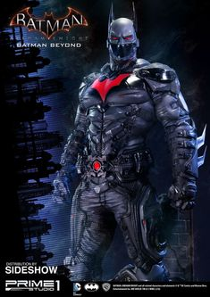 This is the Batman Beyond Statue that I worked on for Studio. On this project, I worked on files from Batman provided by the game company. My job was to add some details to Batman, to create a different head (without the glass on his mouth), to Batman Arkham Knight Suit, Batman Armor, Batman Suit, Im Batman, Batman Cowl, Batman Games, Gotham Batman, Batman Robin, Batman Beyond Costume