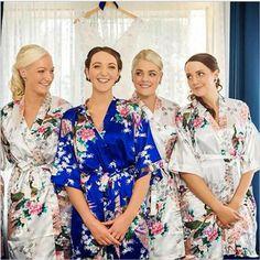 Silk Satin Wedding Bride Bridesmaid Robe Floral Bathrobe Short Kimono Robe Night Robe Bath Robe Fashion Dressing Gown For Women-in Robes from Women's Clothing & Accessories on Aliexpress.com | Alibaba Group