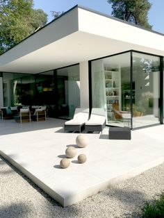 modern minimalist outdoor space