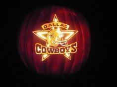 Dallas Cowboys Pumpkin