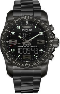 Breitling Cockpit B50 Black Titanium 43mm Case Watch VB501022BD41-176V