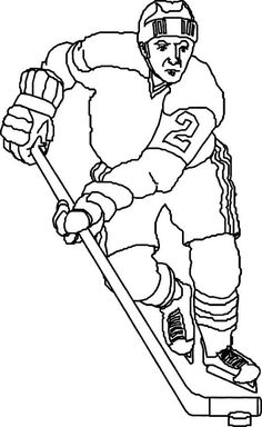 Free pro Hockey player coloring pages to print out | Sports Coloring ...