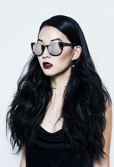 Resting bitch face through the shades // Arden Cho for Kode Magazine