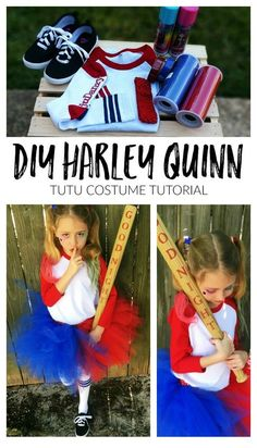 DIY Harley Quinn Tutu Costume – Charlotte by Design DIY Harley Quinn Tutu Costume – Charlotte by Design Disney Halloween, Harley Quinn Halloween Costume, Joker Costume, Halloween Costumes For Kids, Halloween Party, Scarecrow Costume, Anniversaire Wonder Woman, Harley Quinn Disfraz, Halloween