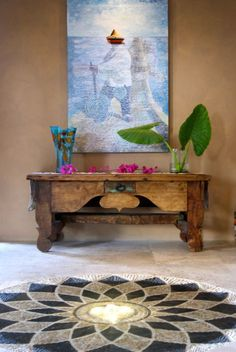 Photos of mexican-style houses Halls, Hacienda Style, Mexican Designs, Bohemian Interior, Mexican Style, Home Decor Inspiration, Sweet Home, House Design, Floor Design