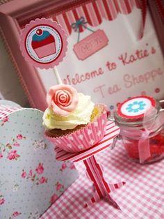 Charmosa base de cupcake