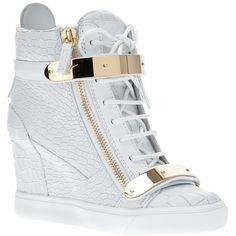 Giuseppe Zanotti Design wedge trainer ($970) ❤ liked on Polyvore