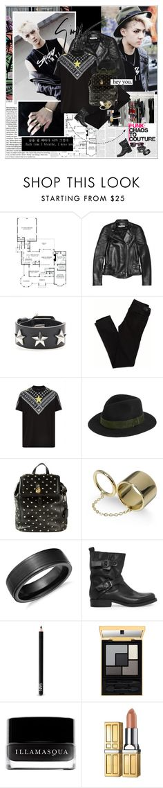 """""""The 90's Punk."""" by rainie-minnie ❤ liked on Polyvore featuring Oris, Givenchy, Giuseppe Zanotti, American Eagle Outfitters, rag & bone, Alexander McQueen, Elizabeth and James, Blue Nile, MANGO and NARS Cosmetics"""