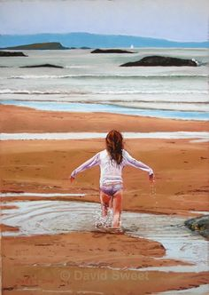 Runkerry Fun - Paintings Northern Irish, Northern Ireland, Beach Mat, Scenery, Outdoor Blanket, Rest, Paintings, Play, Portrait