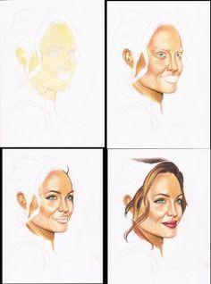 Pencil Colour Painting, Colored Pencil Artwork, Skin Drawing, Nose Drawing, Portrait Sketches, Pencil Portrait, Realistic Drawings, Art Drawings, Colored Pencil Techniques