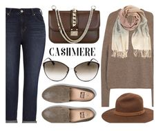 """""""Comfy Outfit"""" by smartbuyglasses ❤ liked on Polyvore featuring Rick Owens, Valentino, Melissa McCarthy Seven7, Tom Ford, FitFlop, Mint Velvet, rag & bone, brown, beige and cashmere"""