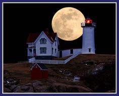"Cape Neddick (""Nubble"") #Lighthouse - York, #Maine http://www.roanokemyhomesweethome.com"